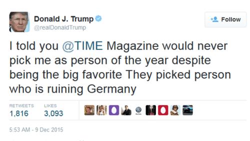 angela merkel owned donald trump favourite tweets