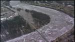 Aerial shots of flooding in Selkirk, Man.