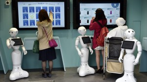 Japanese cellphone store staffed usually by robots opens in Tokyo