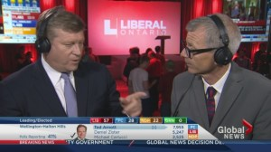 Ontario Election: Liberal HQ reacts to news of majority