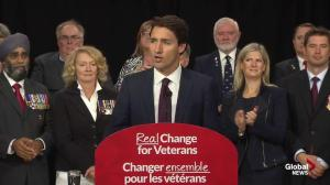 Justin Trudeau promises free post-secondary education to all veterans