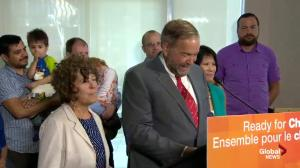 Thomas Mulcair announces that Olivia Chow will re-enter federal politics
