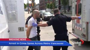 Crime spree starts in Richmond, dramatically ends in Vancouver