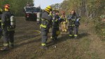 RAW: Winnipeg Airport Fire Rescue crew train during mock plane crash