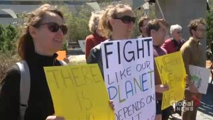 Ottawa joins in climate protest to mark Trump's 100 days in office
