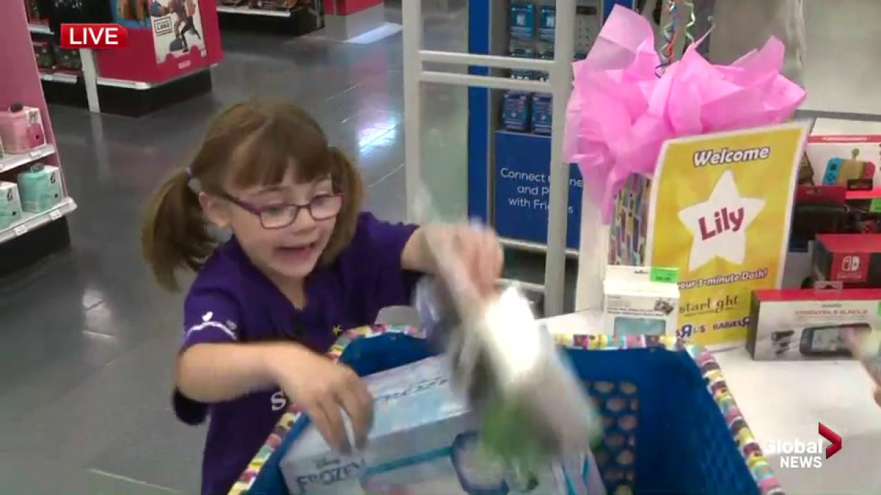 Babies R Us Pickering She S Off 5 Year Old Lily S 3 Minute Shopping Spree At Toys R Us