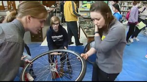 On Learning In Limestone we learn how to maintain or build a bicycle.