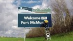 Radio station puts up 'Welcome Home Fort McMurray' sign prior to residents' return