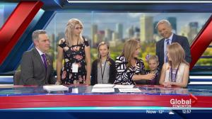 Special guests from Kids with Cancer Society help anchor Global News at Noon