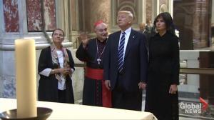 Trump family visits Vatican's famous Sistine Chapel