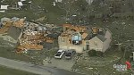 Aerial footage captures damaging aftermath of tornadoes across U.S. midwest
