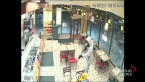 Toronto police release shocking video of shotgun pointed at child during robbery