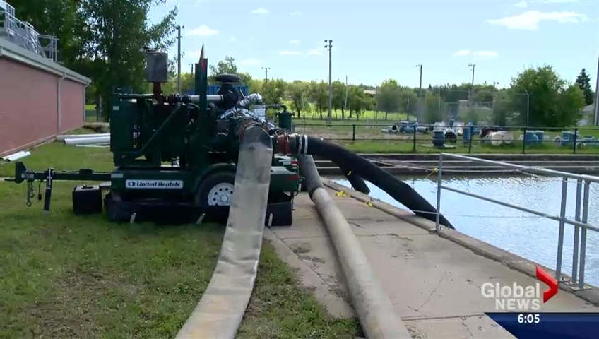 Treated water starting to flow from Battleford to North Battleford, Sask.