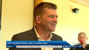 UCP candidate Brian Jean in Calgary on Tuesday