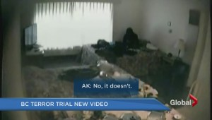 Canada Day terror trial: Delta motel room video