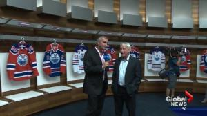 Enormous and extravagant: Edmonton Oilers' new dressing room area is unveiled