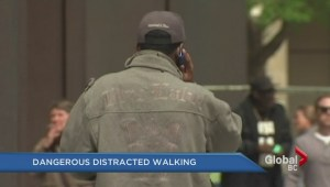 Dangerous distracted walking
