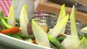Making Italian dish 'Bagna Cauda' with the Homer Street cafe