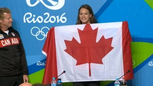Gold medalist Penny Oleksiak to carry Canadian flag during Rio 2016 closing ceremony