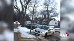 Edmonton attempted murder car-ramming suspect captured on video