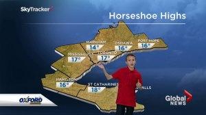 Global Toronto's junior meteorologist winner gives his first forecast