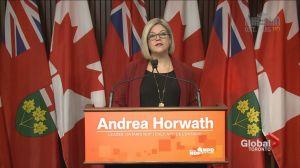 Ontario NDP leader challenges Kathleen Wynne on hydro plan