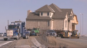 Million dollar mansion transported across city