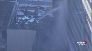 Firefighters put down blaze at NYU Medical Center in Manhattan