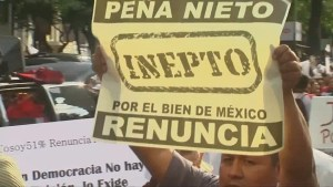 Thousands protest in Mexico City for resignation of President Enrique Pena Nieto