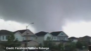 Cellphone video captures tornado ripping through Angus