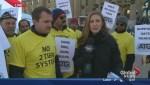 Edmonton Taxi Drivers Rally