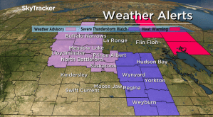 Funnel cloud advisory in Saskatoon; severe t-storm watch in east Sask.
