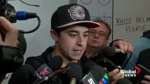 Raw: Johnny Gaudreau on new contract and returning to the Calgary Flames