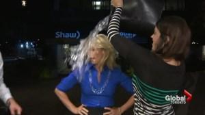 Global's Carolyn MacKenzie takes Ice Bucket Challenge