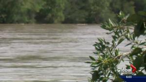 North Saskatchewan River's water levels surging