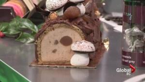 Chef Thierry's chestnut Bouche de Noel