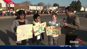 Edmonton school rallies against school zone speeding