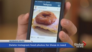 Delete food photos, give food to people in need
