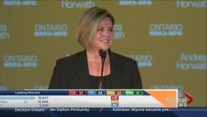 Ontario Election: Andrea Horwath concedes