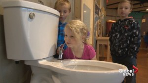 Toilet fountain gets the fear flowing for Calgarians