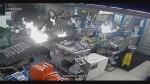 Surveillance video shows burglary suspect break in, burn down Texas store