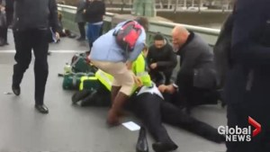 Victims of London 'terror incident' treated by paramedics on Westminster Bridge