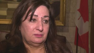 Canadian senator Salma Ataullahjan reacts to Pakistan school attack