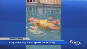 Backlash over video of 6-month-old learning to float