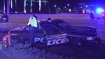 Police officer suffers minor injuries during high-speed truck chase