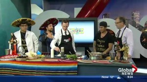 In the Global Edmonton kitchen with 3 Amigos