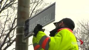 Longueuil renames street after Jean Béliveau