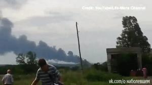 Cellphone footage allegedly captures aftermath of Malaysian airliner crash in Ukraine