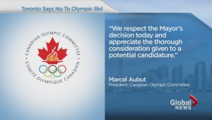Toronto says NO to Olympic bid