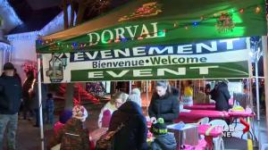 Dorval tree lights up